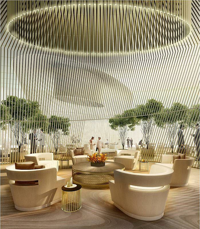 Park Hyatt Riyadh Hotel Lobby Design Atrium Design Hotel Interiors