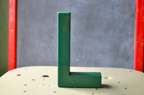 Vintage Plastic Sign Letter L by OhSoRetroVintage on Etsy, SOLD