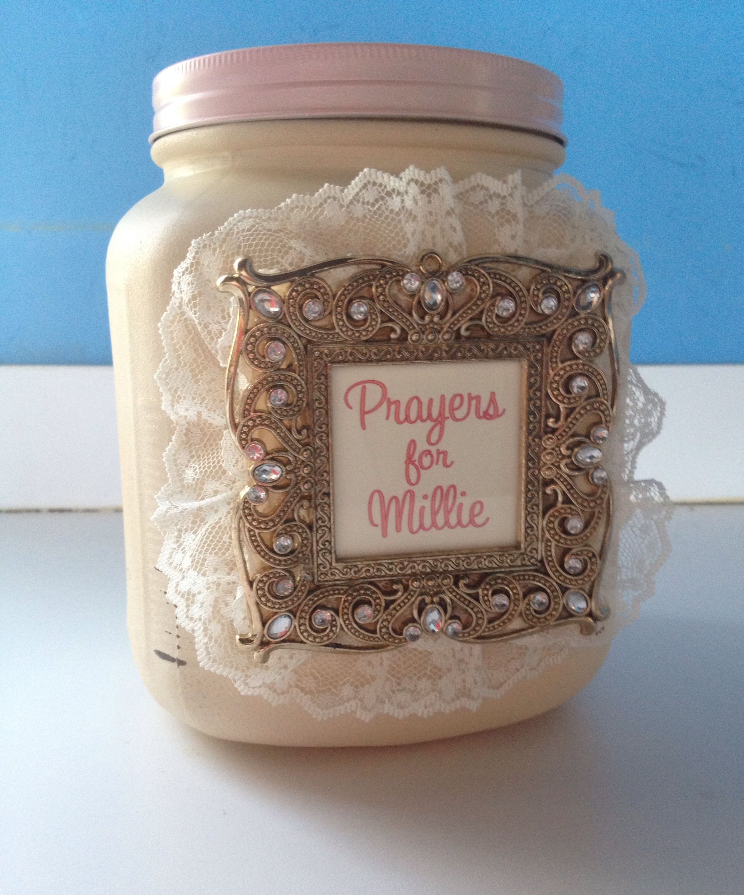 A Prayer Jar For The Baby At A Shabby Chic