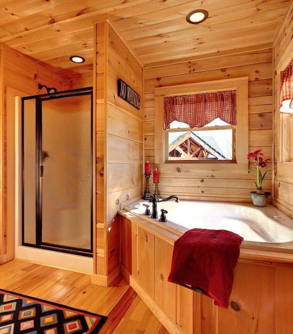 jocassee v master bathroom built by blue ridge log cabins logcabins cabins bathroomdesign. Black Bedroom Furniture Sets. Home Design Ideas