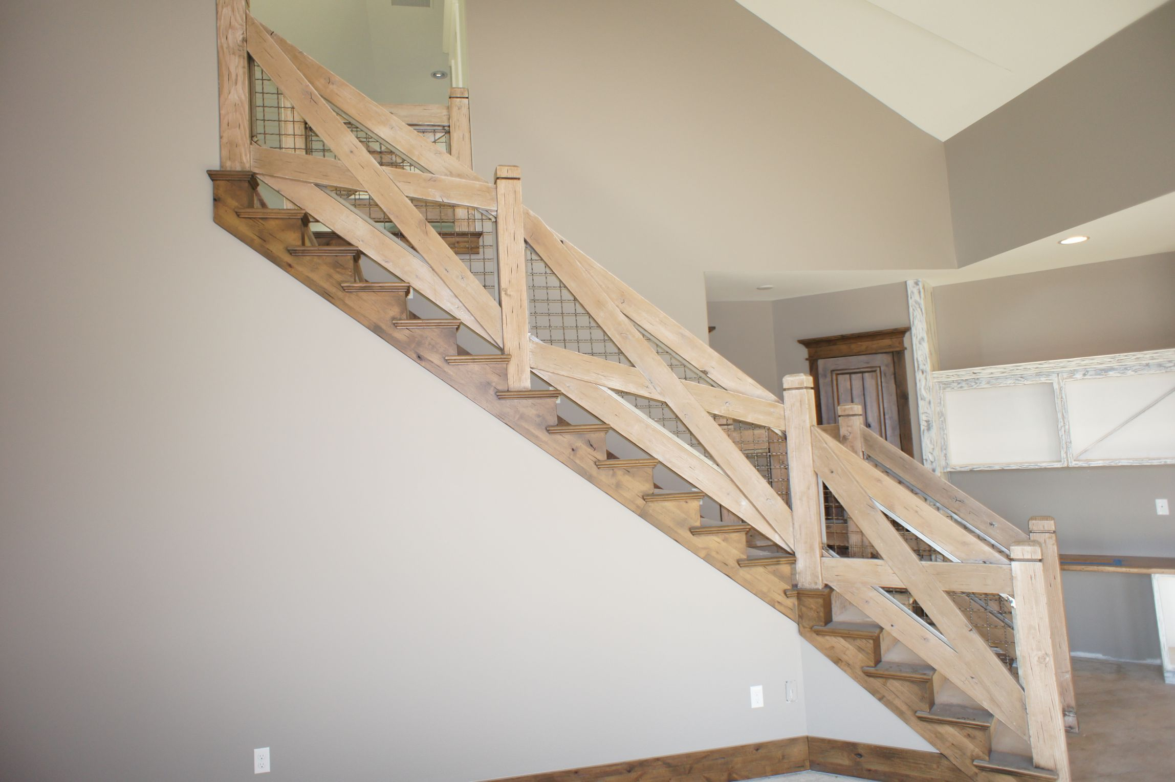 Farmhouse Railings Think Outside Of The Box With A Stair