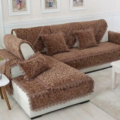 Details About Popular Plush Euro Style Slip Resistant Laced Edge Sofa Covers Cushions On Sofa