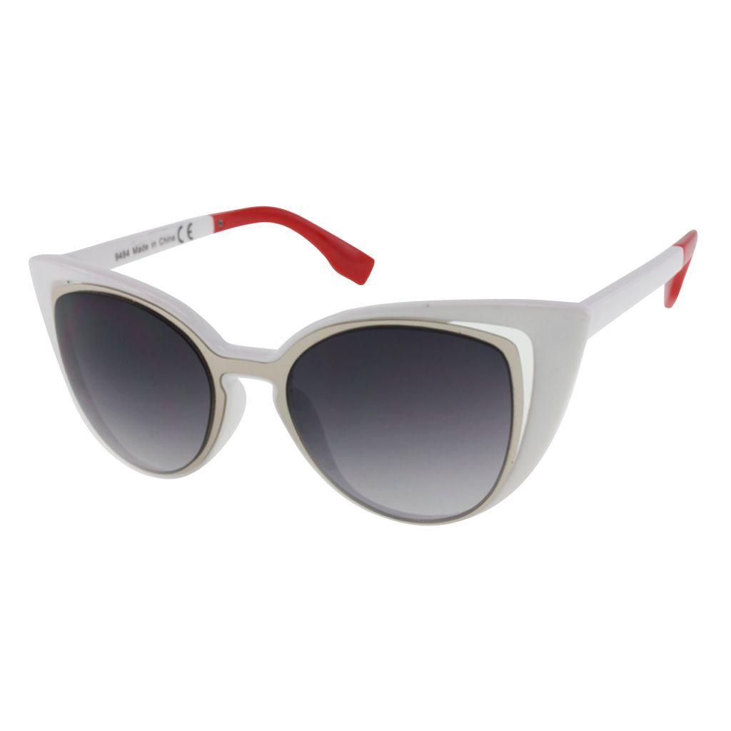 Womens Metal Rim Cateye Sunglasses