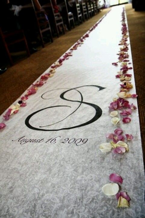 Wedding Runner.. Spray paint or stick on decal..
