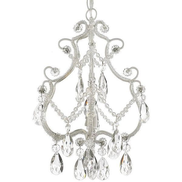 This Beautiful Chandelier Features A Single Light Design And Is Decorated And Draped With Crystals That Capture A Lighting Ceiling Lamp Ceiling Lights