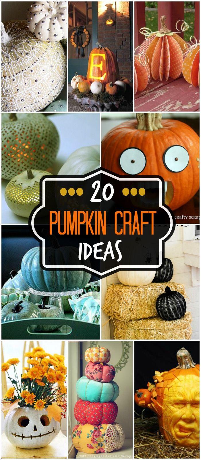 20 Pumpkin Craft Ideas