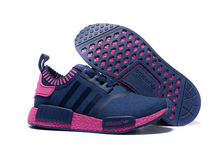 Adidas Originals NMD Runner Primeknit Women Running Shoes blue pink