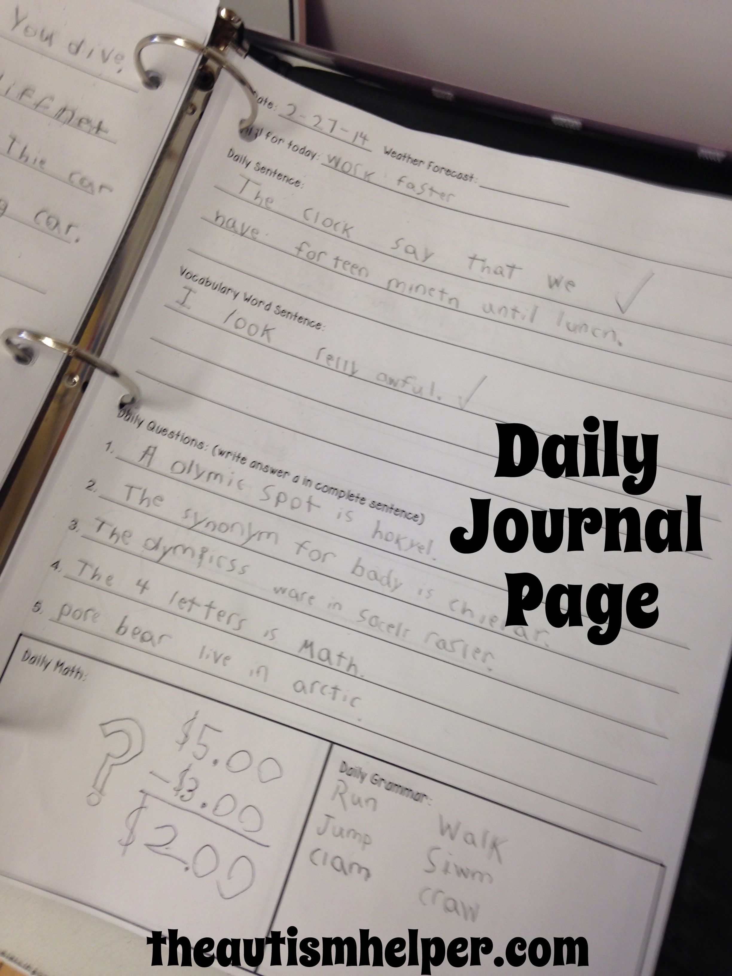 New Daily Journal Page