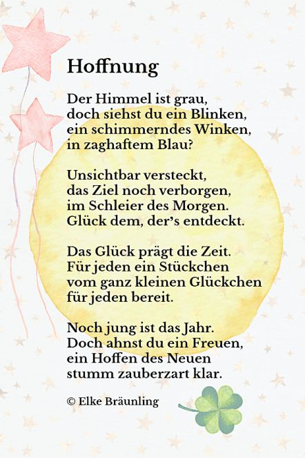 Hoffnung Gedichte Für Kinder Kinder Gedichte Und