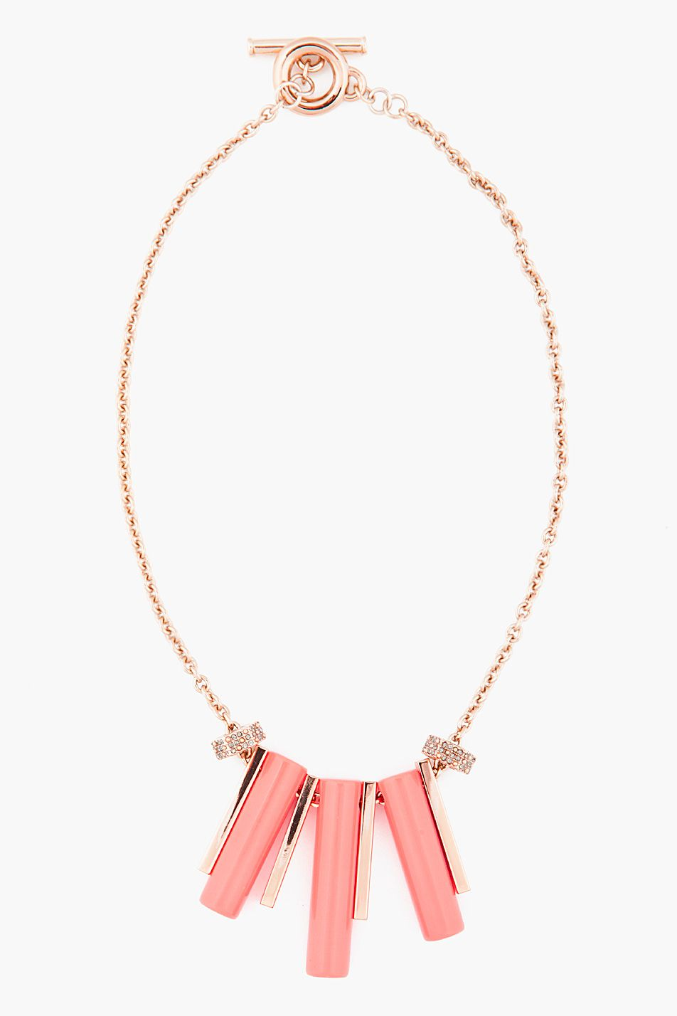 Marc By Marc Jacobs Coral Red Triplet Necklace