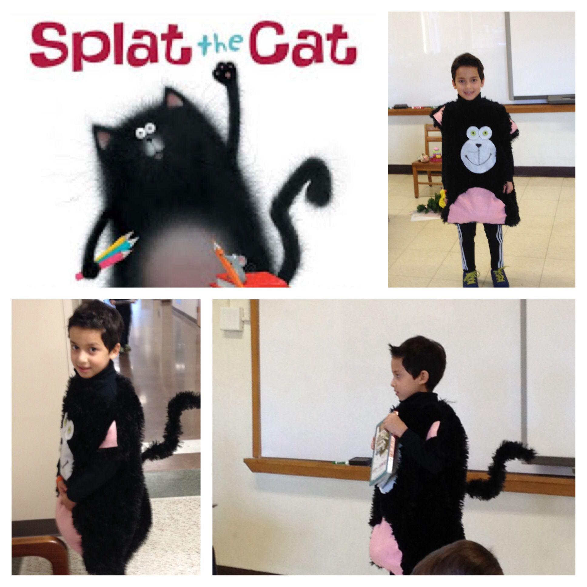 Splat the Cat costume No sewing Supplies furry cushion Walmart w