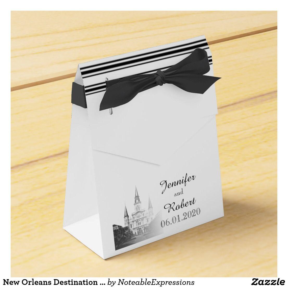 New Orleans Destination Wedding Favor Box | Favor boxes, Wedding and ...