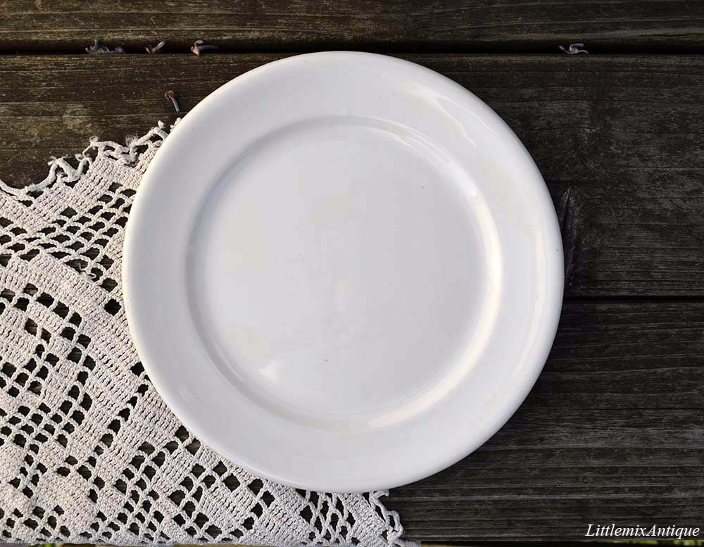 Vintage Adams England Real English Ironstone Micratex Plain White Side Cake Bread Butter Small Plate Retro English Tableware Made In England Small Plates Tableware Plates