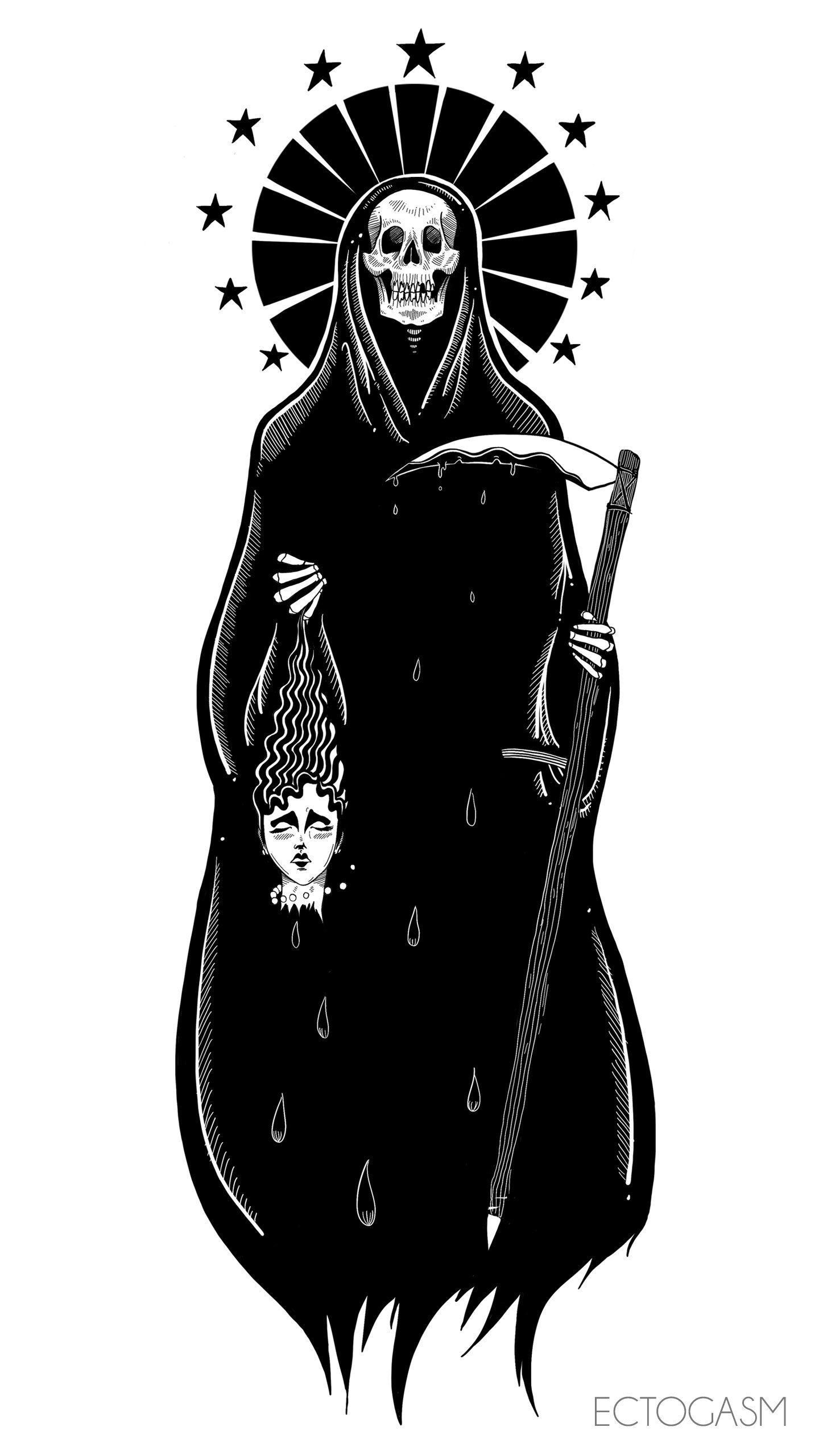 Reaper Phone Wallpaper Ciemna sztuka, Tapety, Sztuka