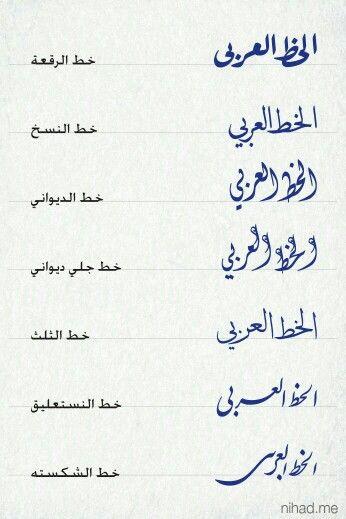 انواع الخط العربي Calligraphy Art Arabic Calligraphy Art Islamic Art Calligraphy