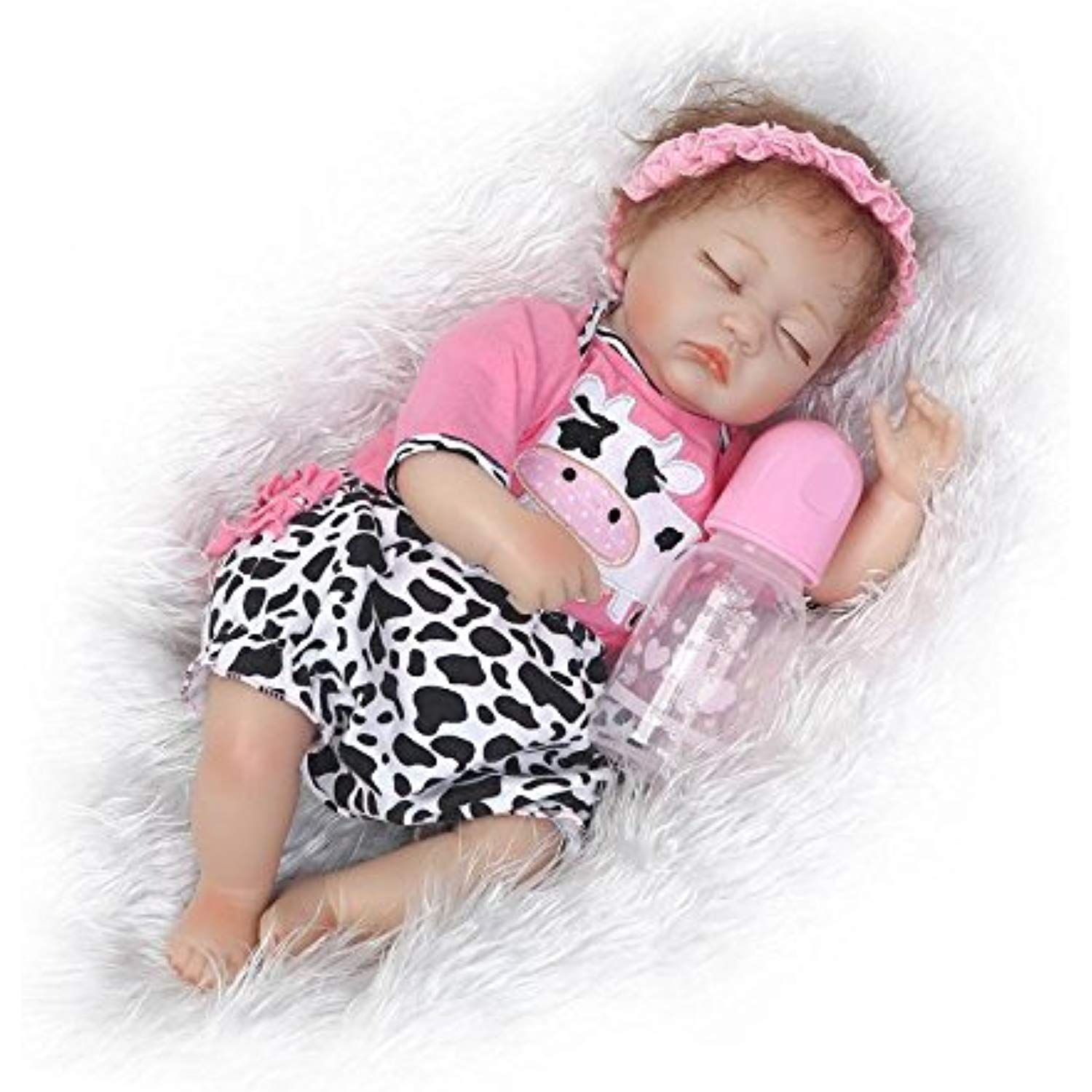 22 Inch Reborn Baby Girl Dolls Reborn Toddler Doll Soft Vinyl Silicone Real Life Like Looking Newborn Dolls Toy Reborn Babies