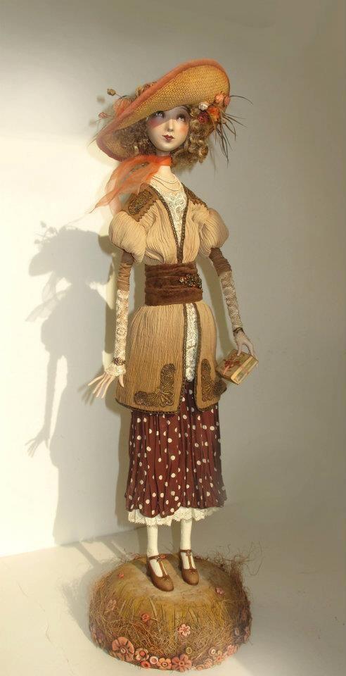 """An invitation to tea"" - art doll by Anna Zueva"
