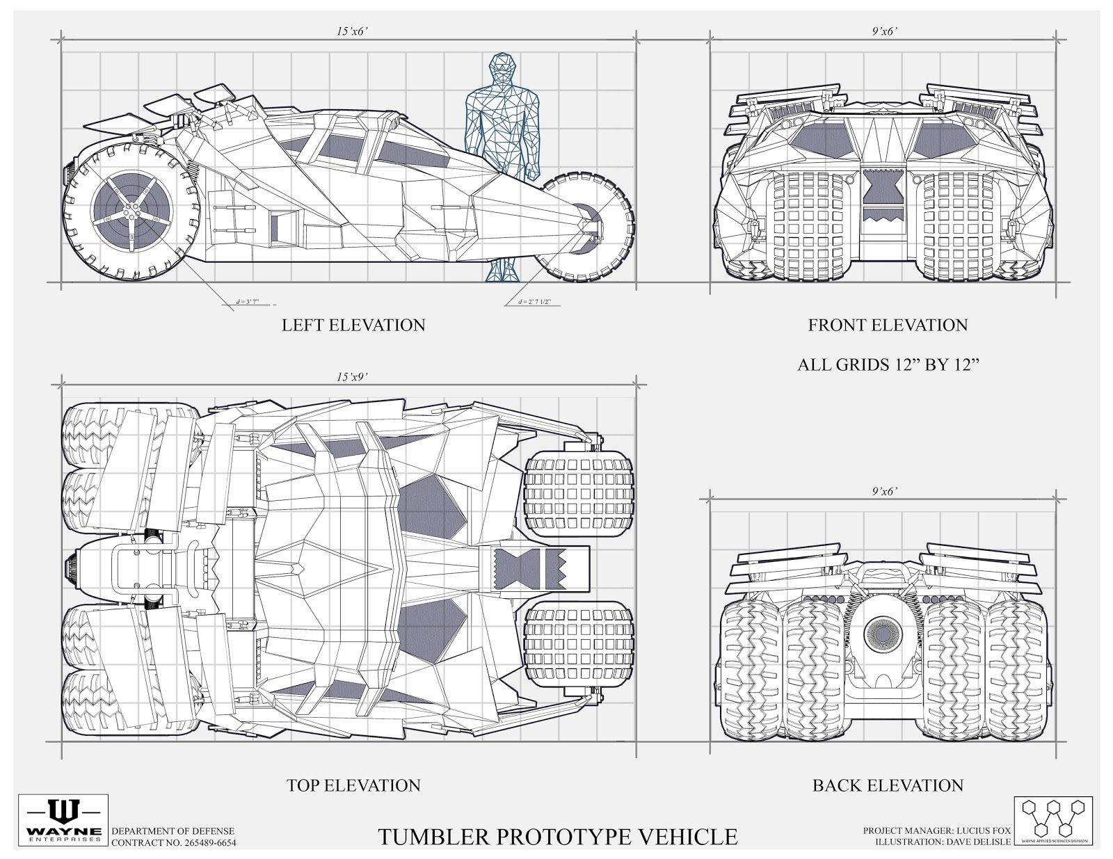 The Dork Review Rob S Room Batmobile Blueprints