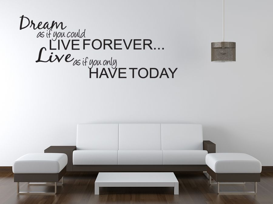 DREAM LIVE Girls Teen Bedroom Vinyl Wall Quote Art Decal Sticker - Wall stickers for bedrooms teens