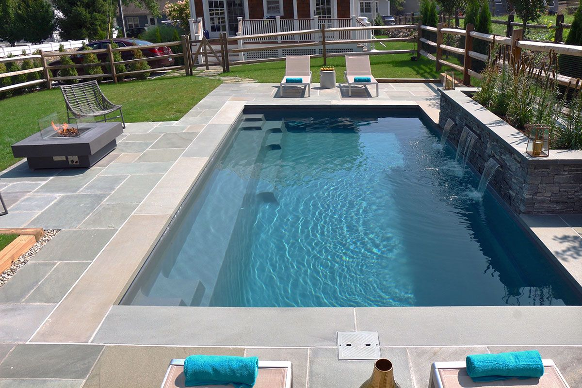 Uniquely Designed To Enter The Pool From All Corners Visit Our Website For More Info Fiberglass Swimming Pools In 2019 Leisure Pools Fiberglass Pools F