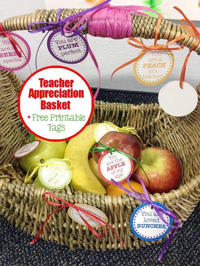 Teacher appreciation day fruit basket with free printable also teacher appreciation day fruit basket with free printable also great for end of year gift negle Gallery