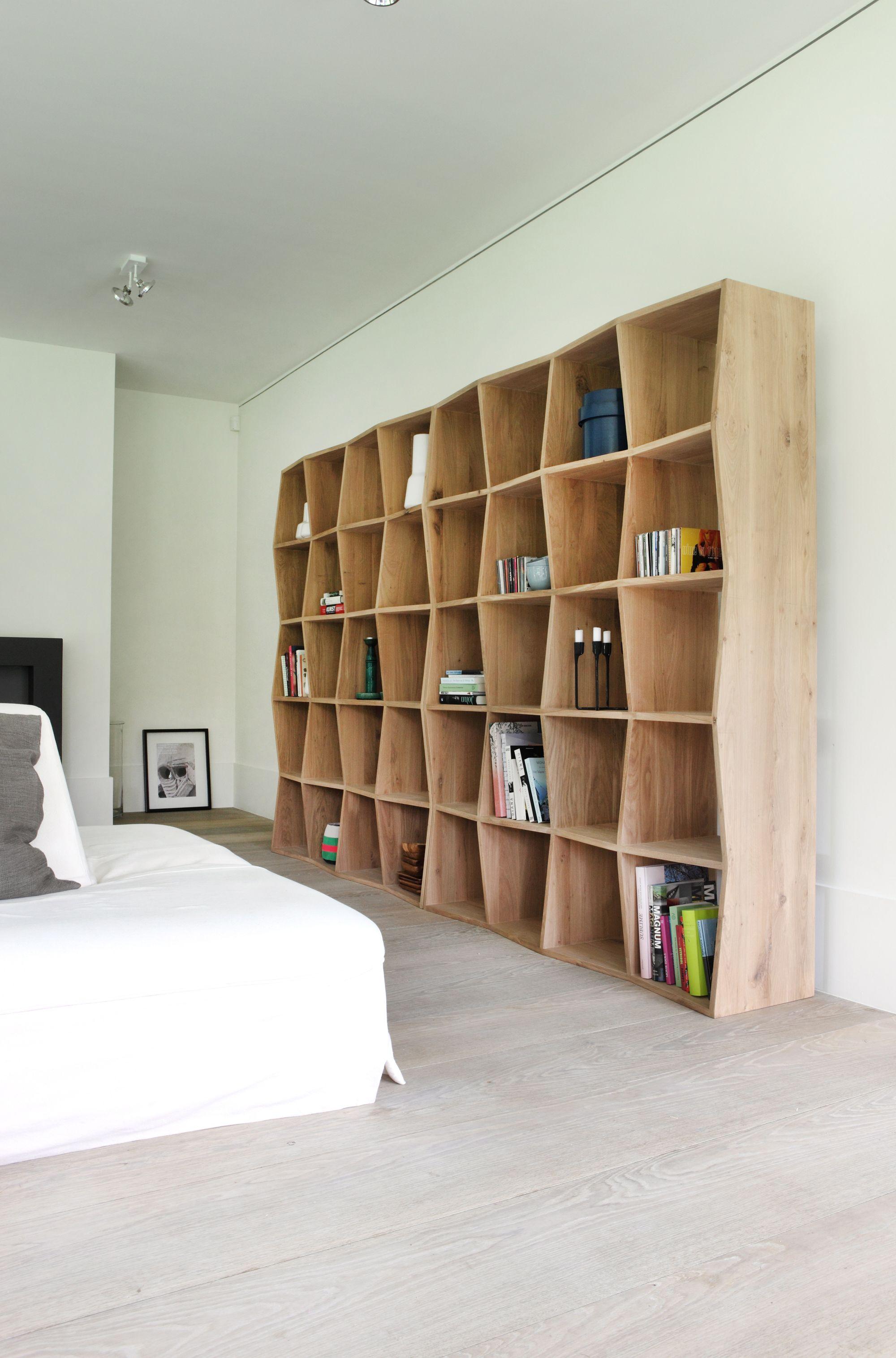 Designer Bookcases boomerang oak bookcasea belgium designer brand called