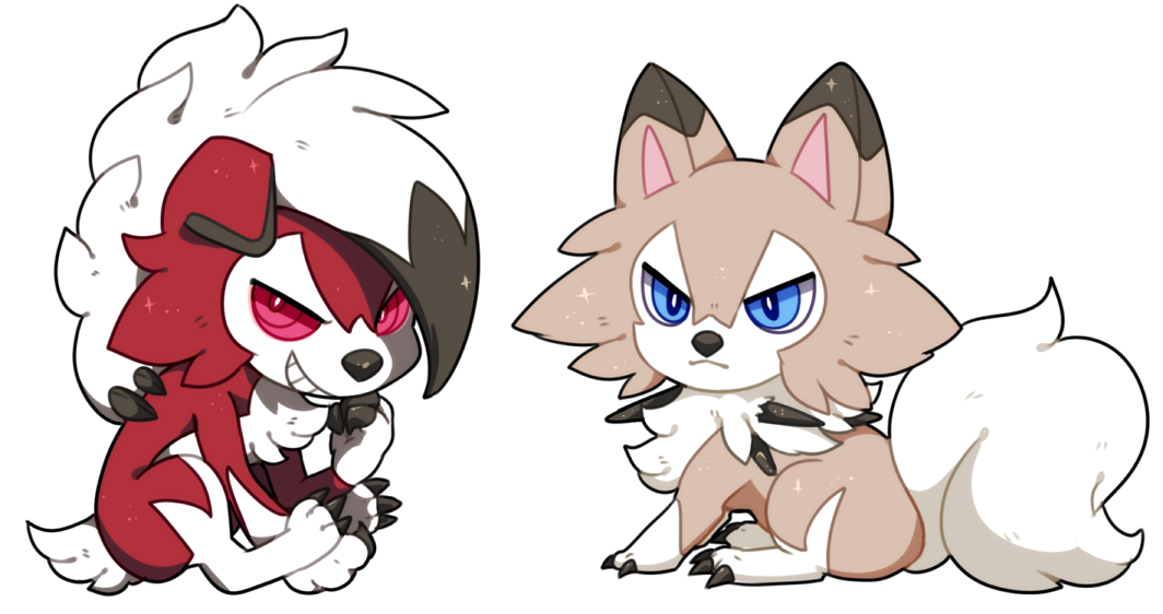 lycanroc midday or midnight posted in sun moon rockruff the