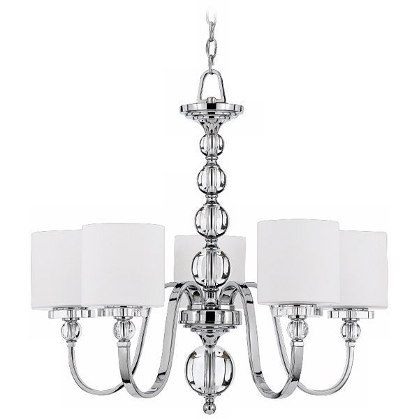 Quoizel Downtown Chrome 28 Inch W Five Light Chandelier