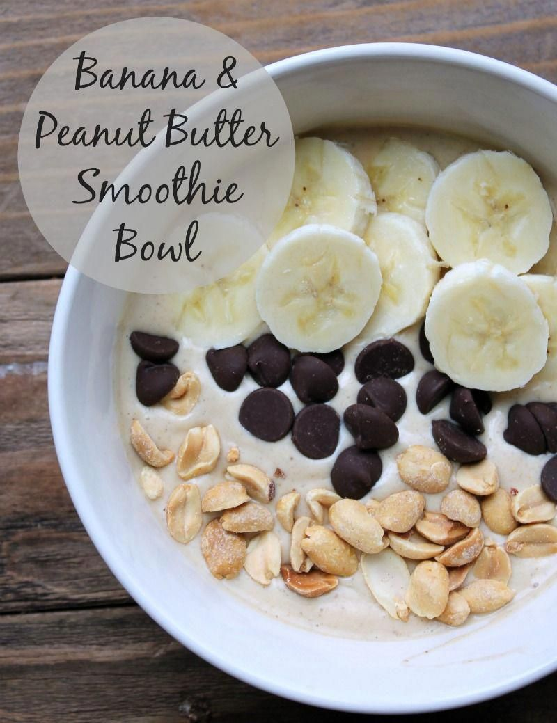Banana Peanut Butter Smoothie Bowl Banana Peanut Butter Smoothie Bowl. This smoothie bowl is filled with healthy wholesome ingredients. I enjoyed this after long run and it was absolutely delicious. Kind of like eating a Dairy Queen blizzard but good for you!