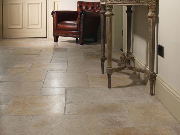 jerusalem grey gold limestone flooring | country closet
