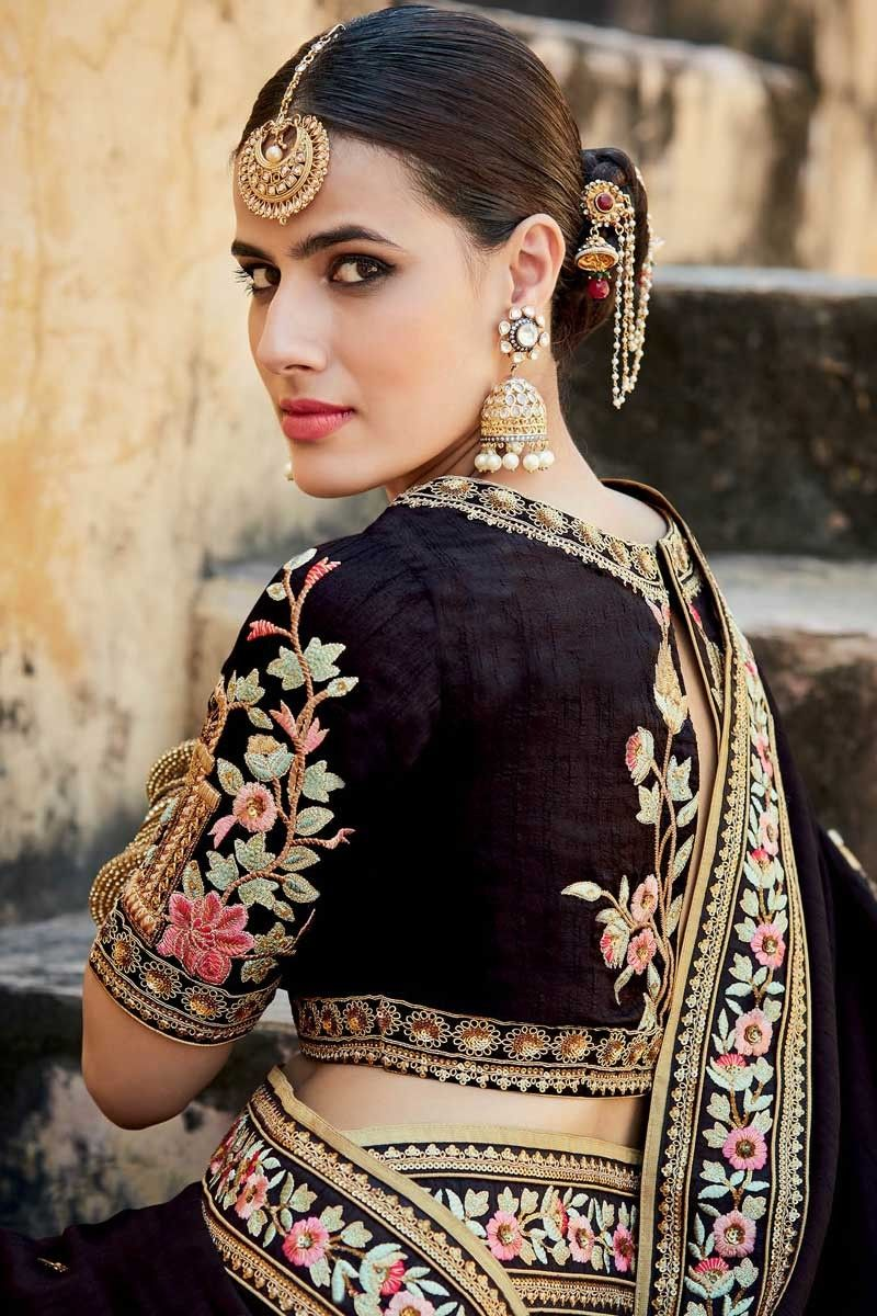 Saree blouse design for chiffon saree pinterest anoop inder  indian srilankan tamil wear  pinterest
