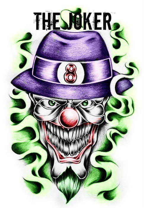 Gangster JOKER skull by jokercrazy