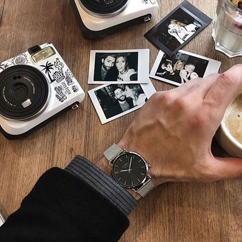 Make memories with our Black Code Watch with the Silver Mesh Strap.