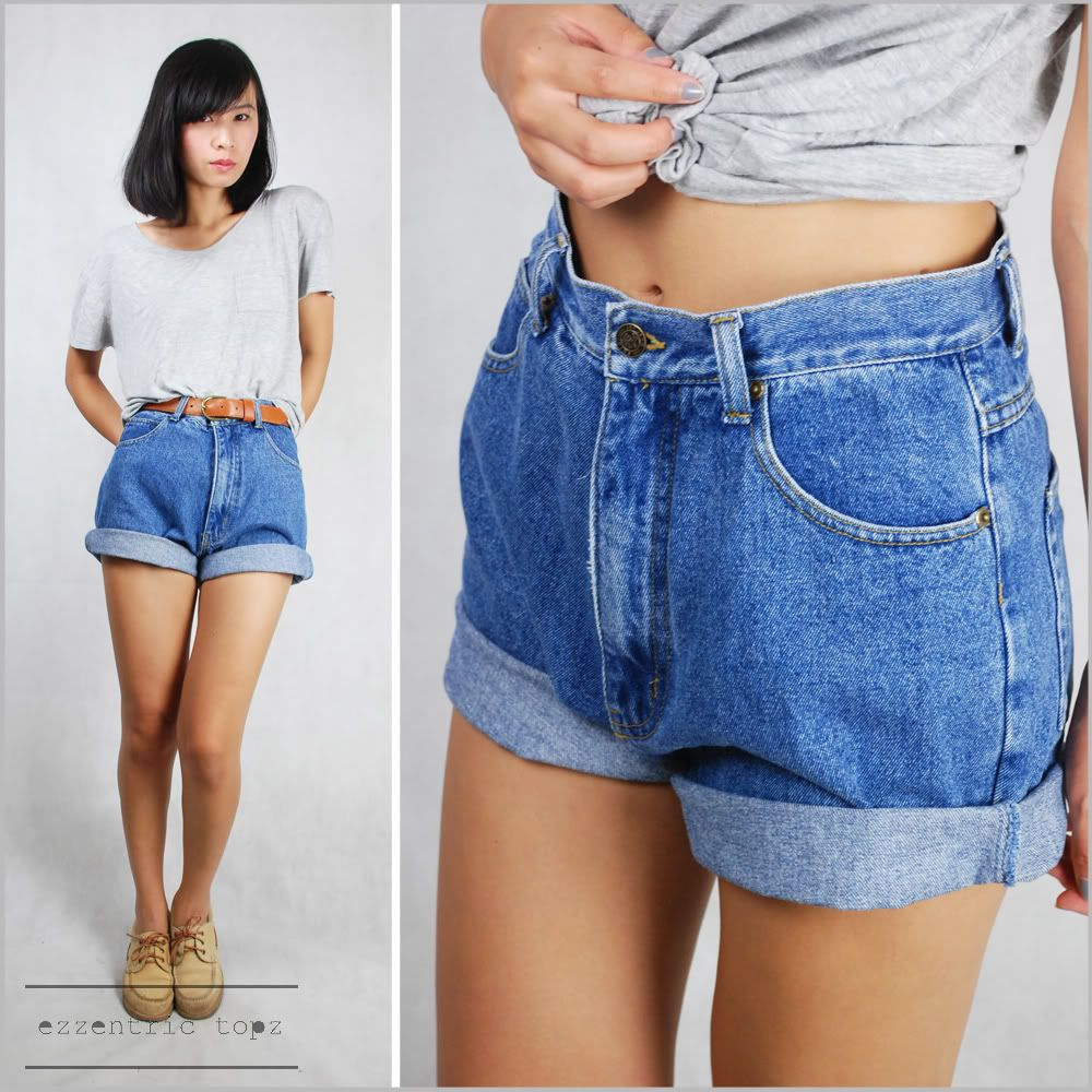 high waisted boyfriend jean shorts | Fashion | Pinterest ...
