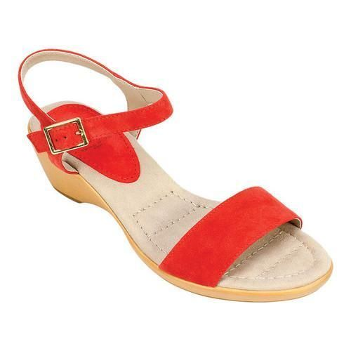 3ba2d867288f Women s White Mountain Corky Ankle Strap Sandal Red