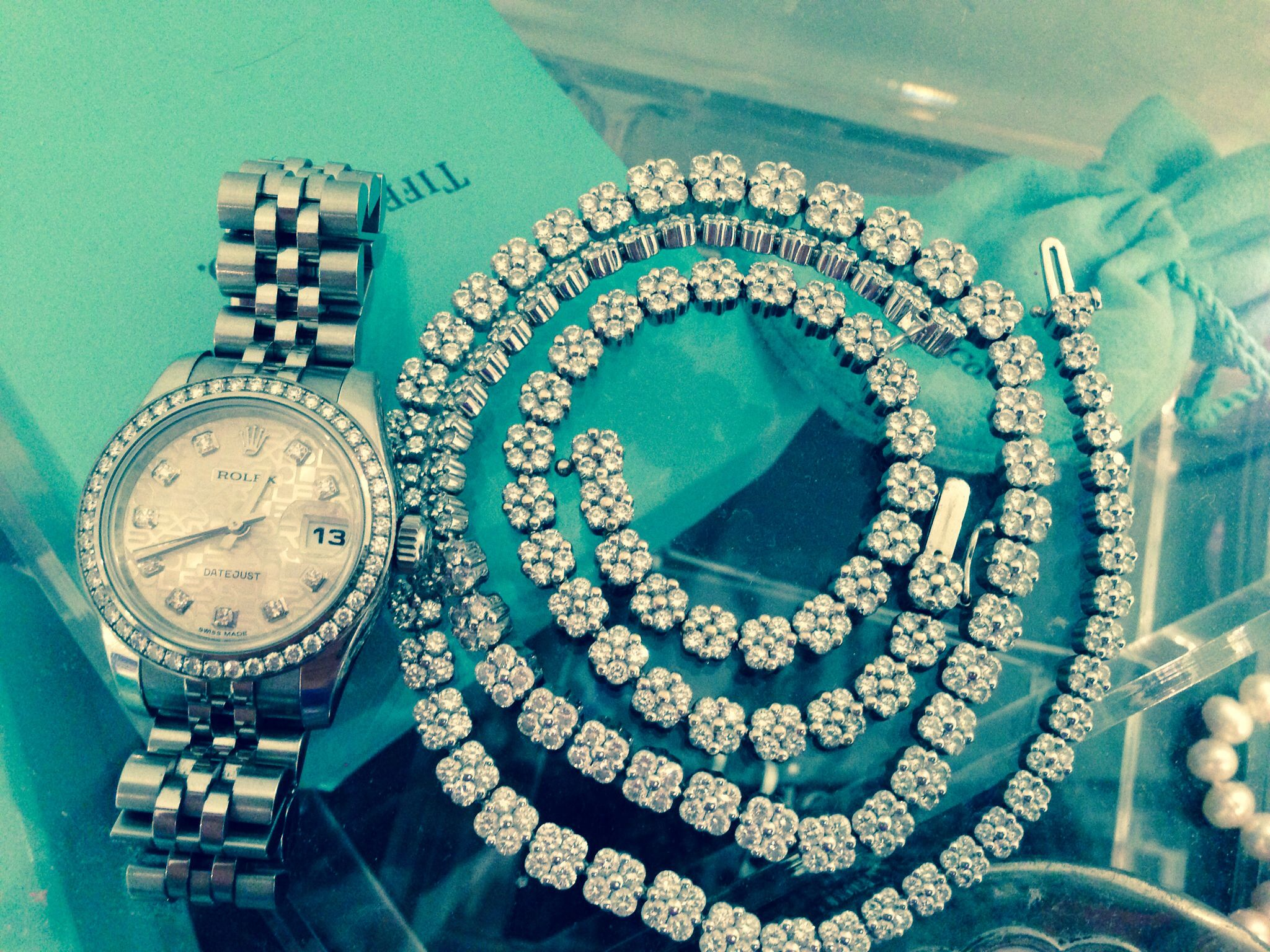 tennis bracelet and necklace set with diamond rolex watch. Black Bedroom Furniture Sets. Home Design Ideas