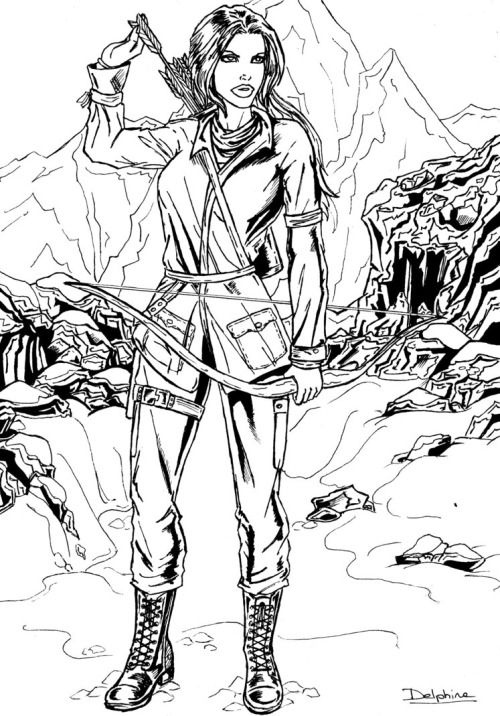 """Fanart:""""  Black and White - Rise Of The Tomb Raider  """"..."""
