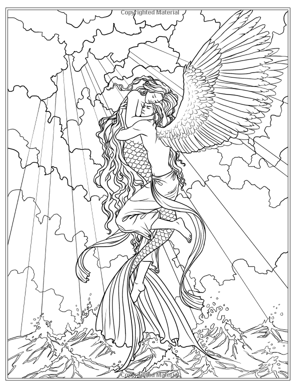 Robot Check Mermaid Coloring Pages, Fairy Coloring Pages, Mermaid Coloring