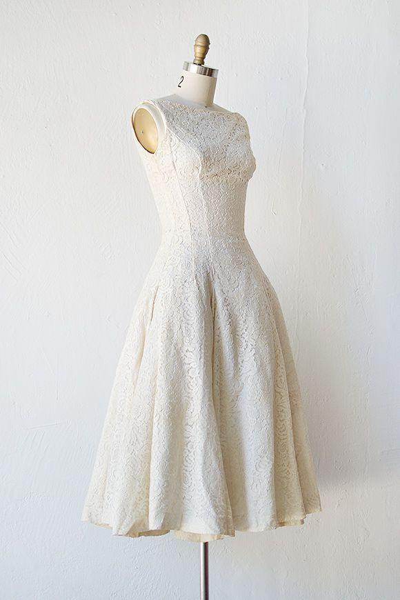 vintage 1950s wedding dress | 50s wedding dress | Spoken For Wedding ...