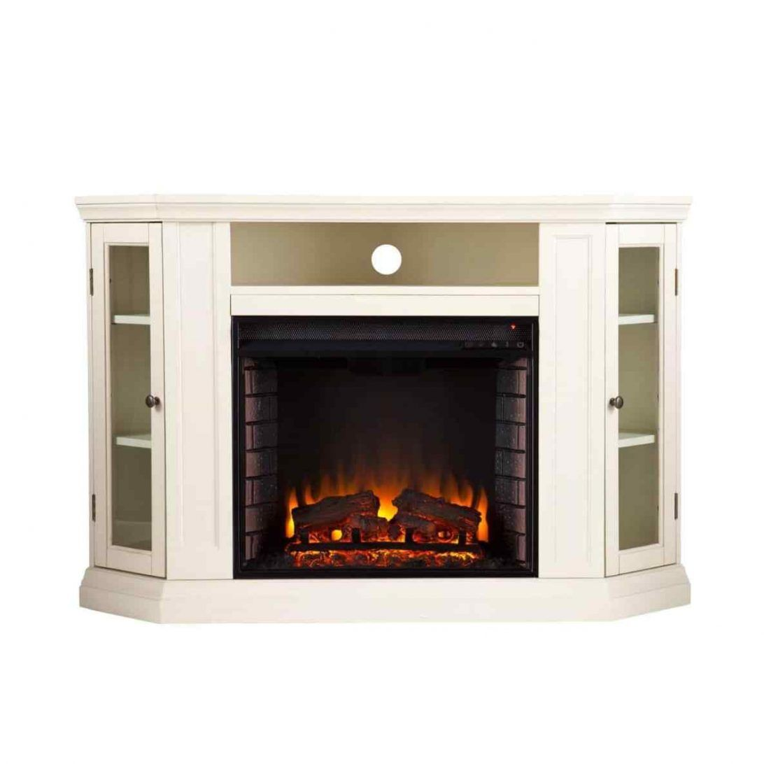 Patio Free Standing Modern Electric Fireplace Real Flame