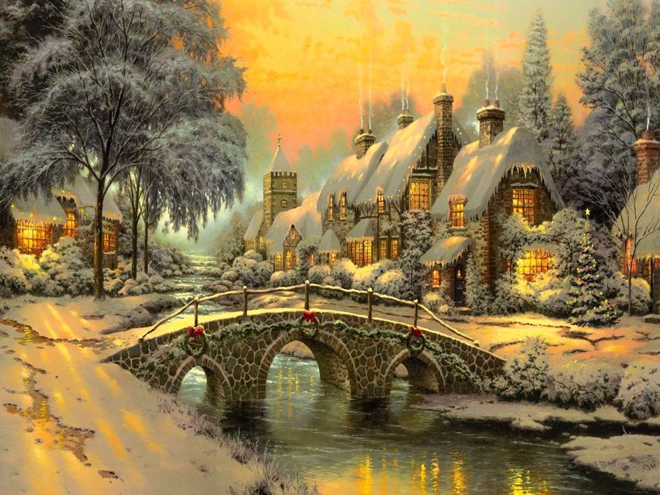 classic-christmas-painting-hd-awesome-beautiful-hd-art-famous ...