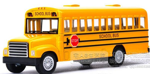 Alloy Made Classical Yellow School Bus Toy Yellow School Bus