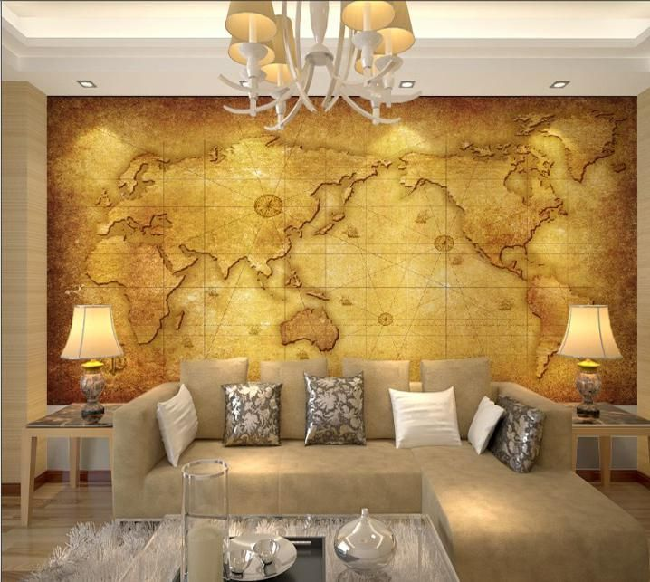 Luxury embossed mural photo world map wallpaper tv sofa background wholesale cheap world map wallpaper online yuanroll find best luxury embossed mural gumiabroncs Images