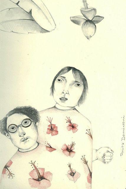 moleskin... sketchbook drawng by Anita Dominoni: