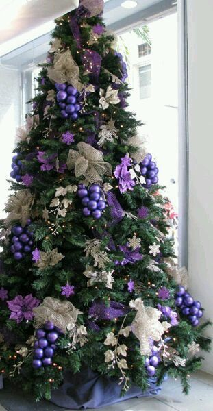 Beautiful purple Christmas tree | Purple christmas tree ...  Christmas Trees Decorated Purple
