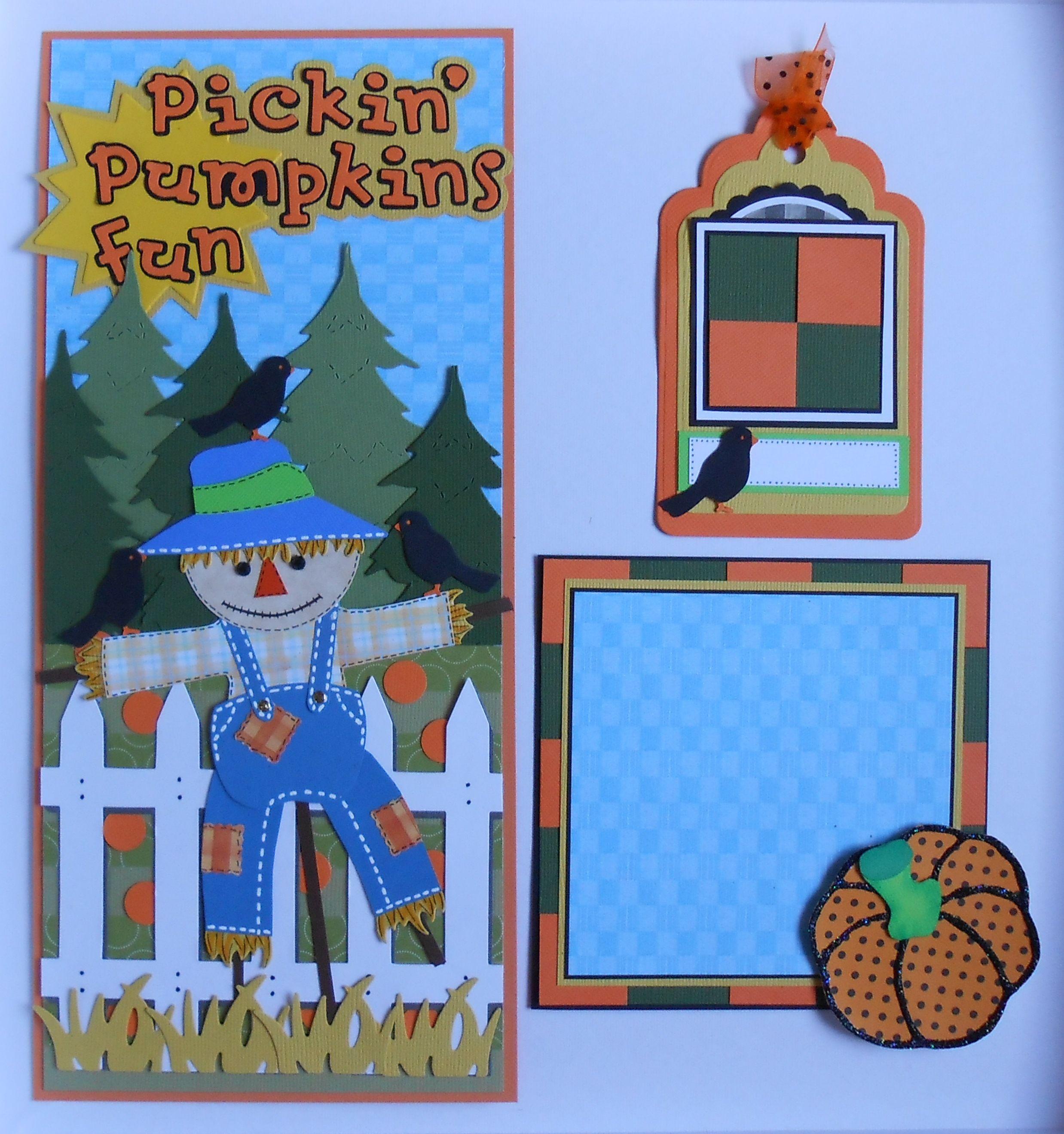 Pickin' Pumpkins Border Mat, and Tag SOLD
