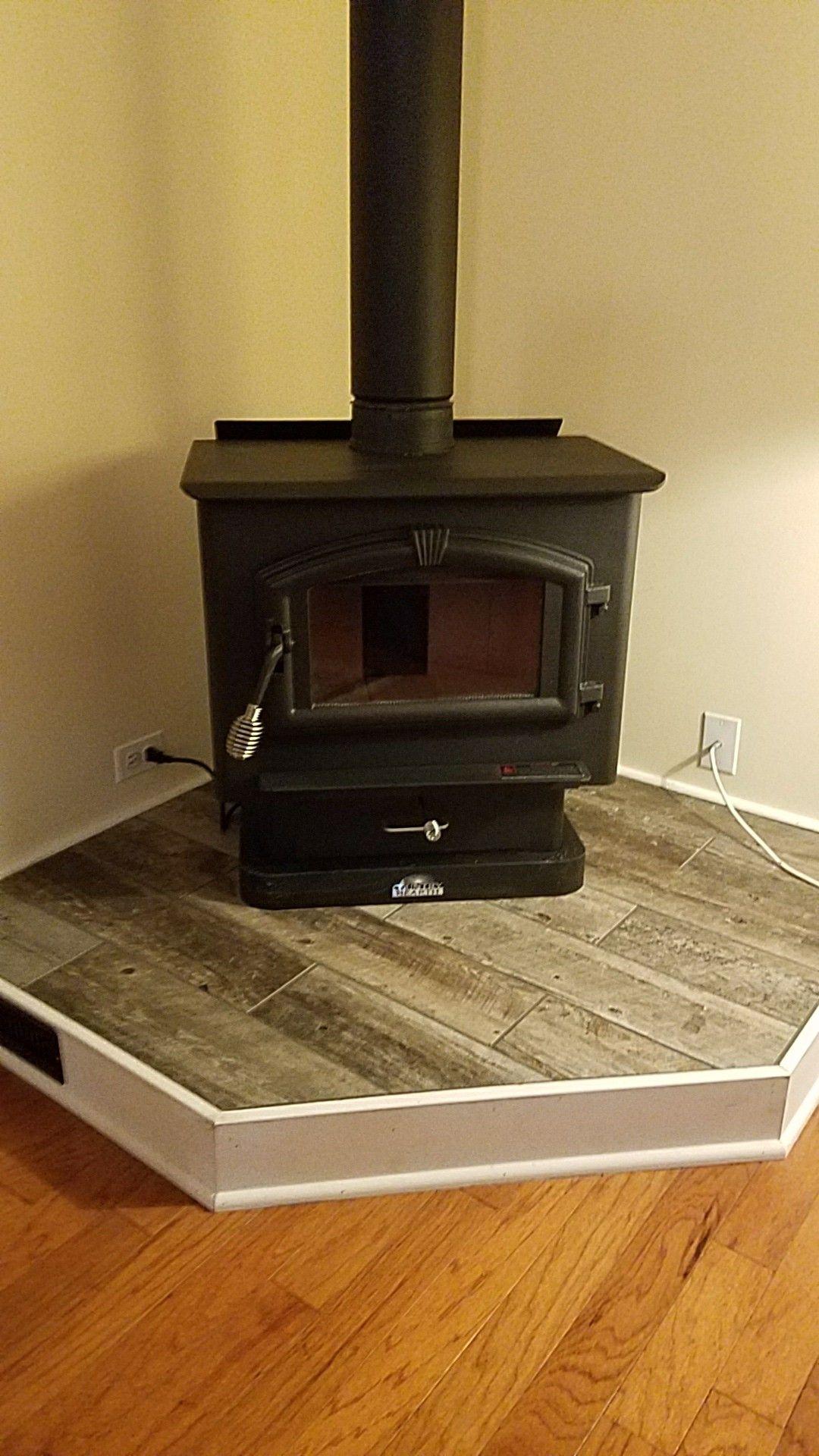 My Stove With Raised Wood Floor Pellet Stove Wood Heater Wood Stove Surround