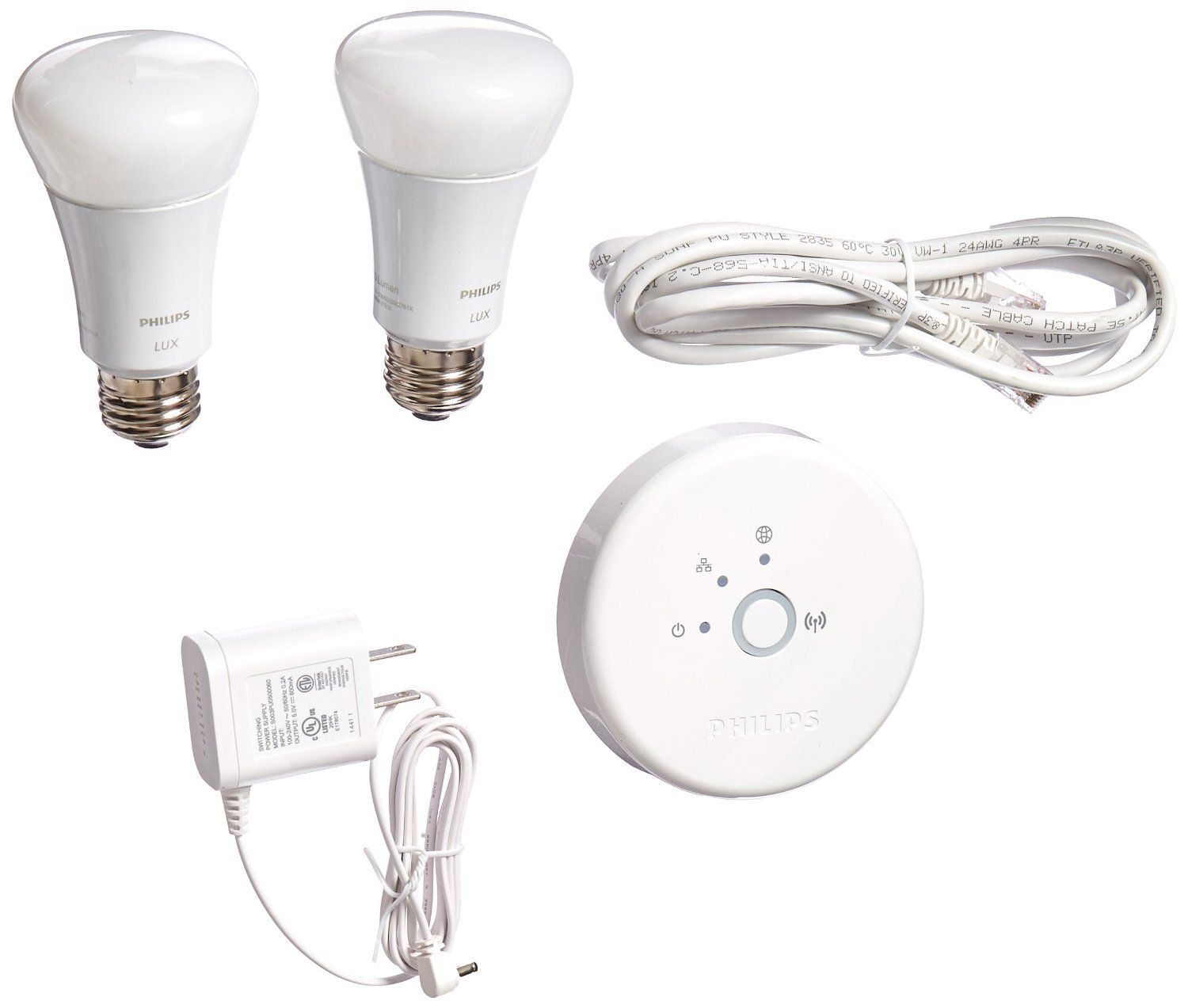 Philips 453761 Hue Lux 60w Equivalent A19 Led Personal Wireless Lighting Starter Kit To View Further For This Item Vi Philips Hue Philips Works With Alexa