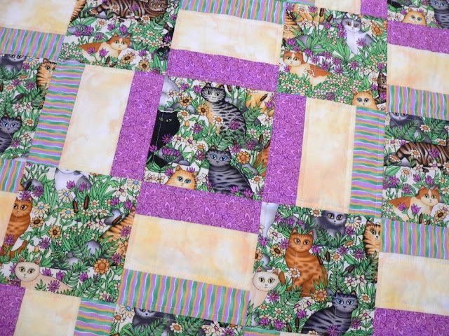 Warm Wishes pattern. One of my all time favorites! isn't this cat fabric sooo cute? Quilting & Other Craft Therapy: Friday Finish