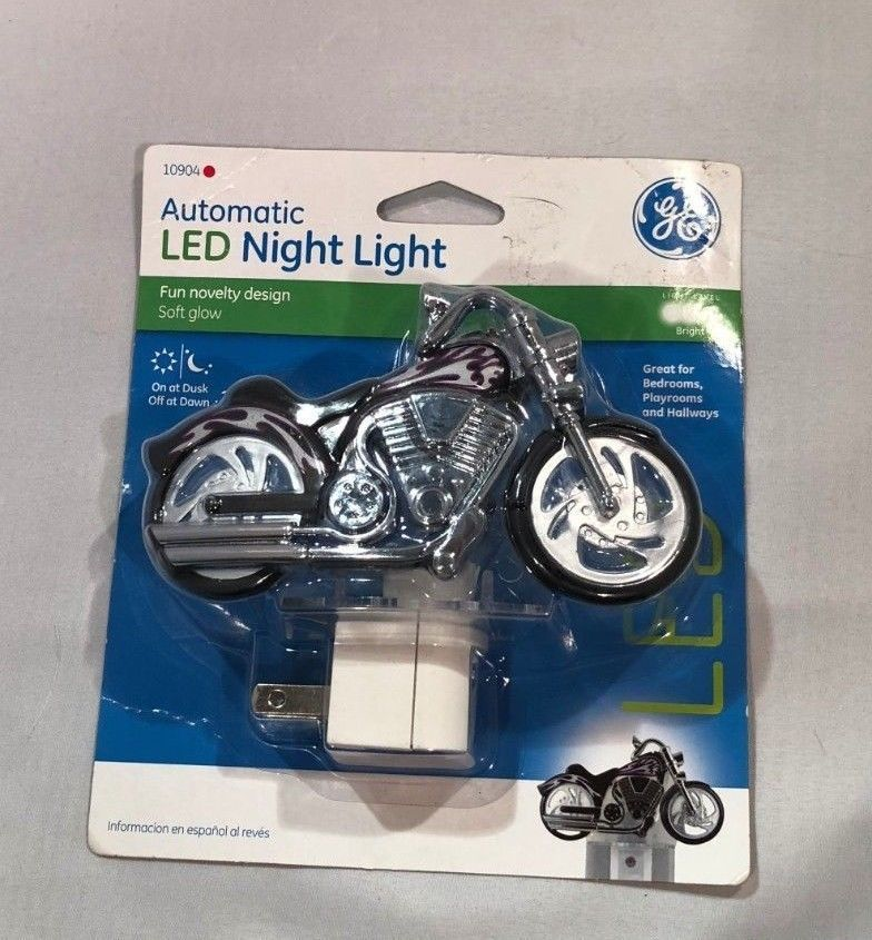 Motorcycle Led Night Light By Ge Light Sensing And No
